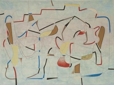 1 la casa del deseo en el lago blanco 2013 huile sur toile 195 x 260 cm 1