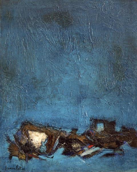 Bott composition 1963 huile sur toile 81 x 65 cm