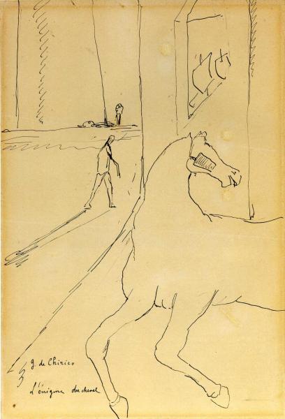 De chirico l enigme du cheval 1913