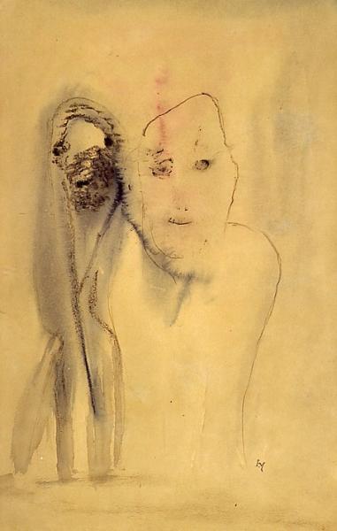 Michaux sans titre 1948 49 x 32 cm
