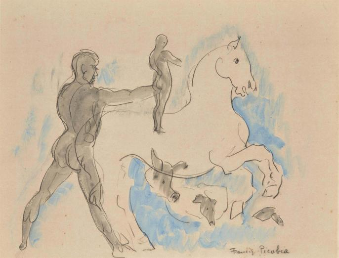 Picabia le cheval blanc