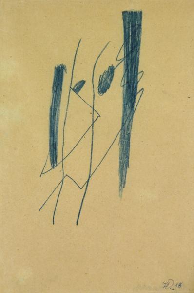 Richter portrait de jean arp 1918